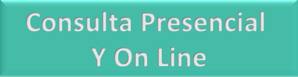 Consulta presencial y online